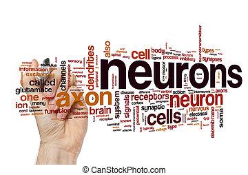 Neurons word cloud concept