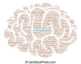 Neuroplasticity Brain Word Cloud