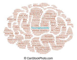 Neuroplasticity Brain Word Cloud