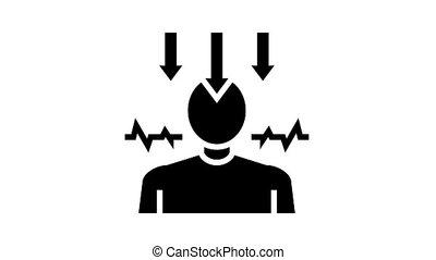 neurosis psychological disease animated glyph icon. neurosis psychological disease sign. isolated on white background
