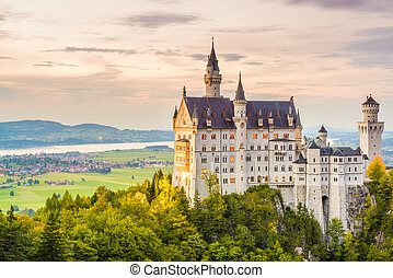 neuschwanstein, alemania, castillo
