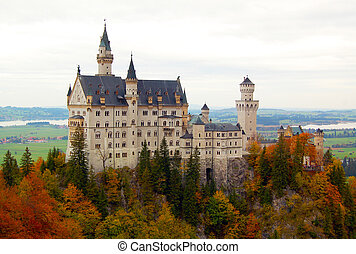 Neuschwanstein Castle, a dramatic Romanesque fortress