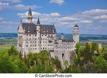 Neuschwanstein Castle at the Summer, Bavaria, Germany