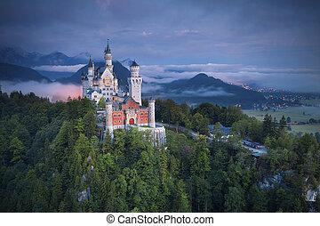 Neuschwanstein Castle, Germany. - Neuschwanstein Castle is a...