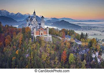 Neuschwanstein Castle, Germany. - View of Neuschwanstein...