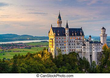 Neuschwanstein Castle in Fussen, Germany