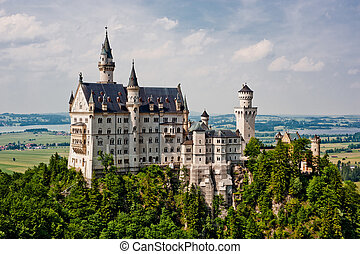 Neuschwanstein castle in Germany, built by Ludwig II