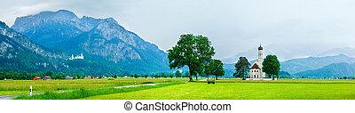Neuschwanstein Castle in Germany - Historic medieval...