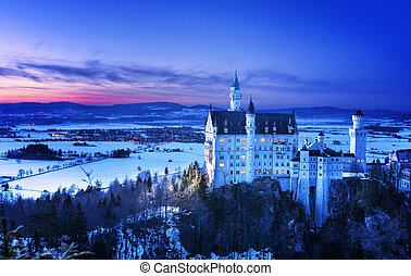 Neuschwanstein Castle in Germany - Neuschwanstein Castle...