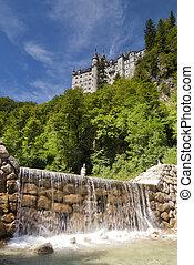 Neuschwanstein castle near Füssen - Neuschwanstein castle...