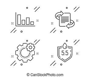neutraal, histogram, teken., set., economisch, techniek,...