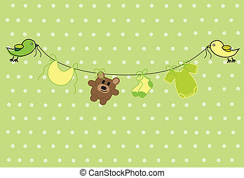 Neutral Baby Shower - Green and yellow neutral baby shower...