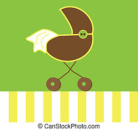 Neutral Baby Stroller - Yellow and green neutral baby...