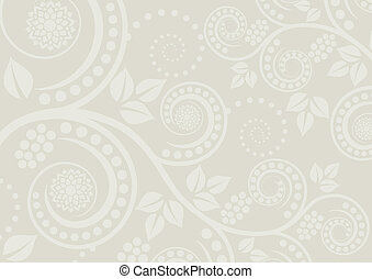 neutral background with a plant motif