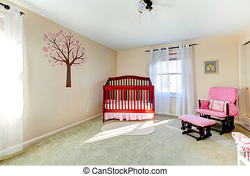 Neutral color baby nursery room