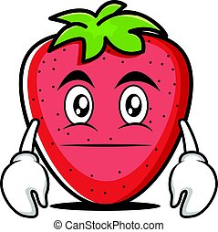 Neutral face strawberry cartoon character