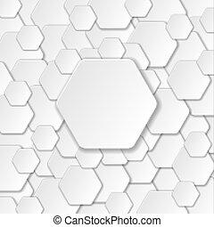 Neutral Paper Cut Background. Vector Illustration