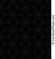 Neutral Seamless Linear Pattern. Geometric Circles Vector Background.