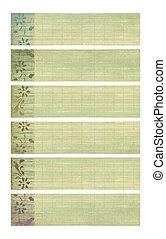 Neutral tones coconut paper textured banner set