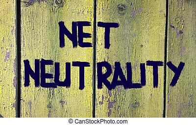 neutralité, filet, concept