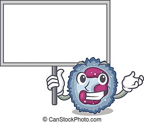 neutrophil, bringa, tecken, bord, bild, cell, tecknad film, ...
