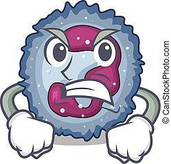 neutrophil, design, ansikte, tecken, ha, ilsket, cell, ...