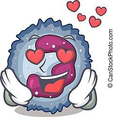 neutrophil, design, tecken, kärlek, stjärnfall, cell, ...