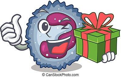 neutrophil, smiley, tecken, gåvan boxas, cell