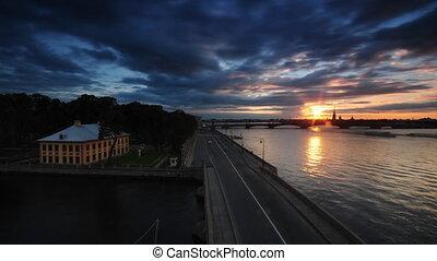 Neva River Bank In St.Petersburg
