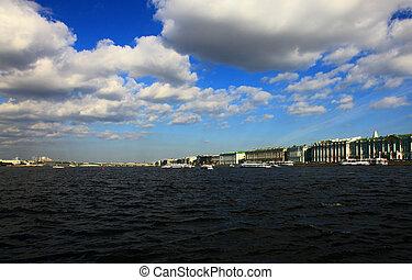 Neva River, Saint Petersburg, Russia.