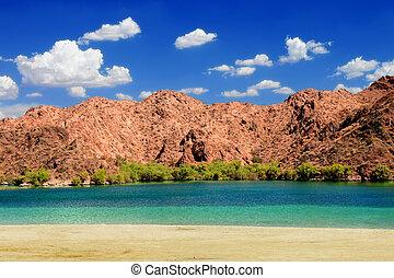 Nevada Desert Beach Landscape