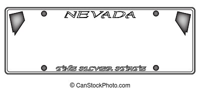 Nevada License Plate - A Nevada state license plate design...
