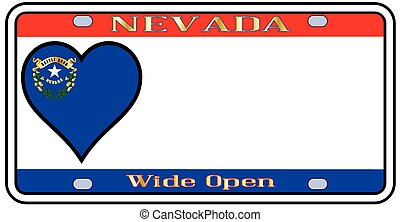 Nevada License Plate - Nevadastate license plate in the...