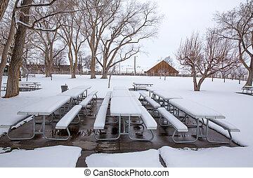 nevada, parque, neve, eua, primeiro