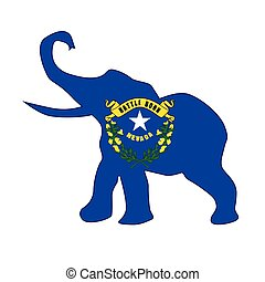 Nevada Republican Elephant Flag
