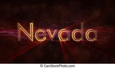 Nevada - Shiny looping state name text animation - Nevada -...