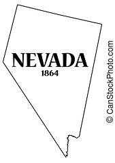 Nevada State and Date - A Nevada state outline with the date...
