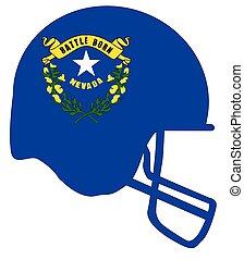 Nevada State Flag Football Helmet