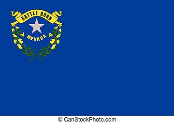 Nevada State Flag, USA. Vector Format