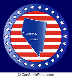 Nevada state seal stamp usa
