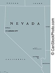 Nevada United States political map