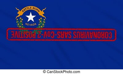 Nevada US state swaying flag stamped with positive response ...