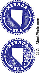 Nevada USA Stamps - A couple of distressed stamps featuring ...