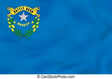 Nevada waving flag. Nevada state flag background texture.