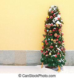 nevado, árvore, cozy, natal
