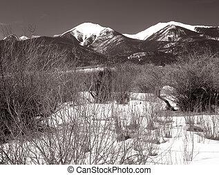 nevado, montanhas
