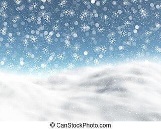 nevado, paisagem inverno