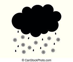 neve bianca, pioggia