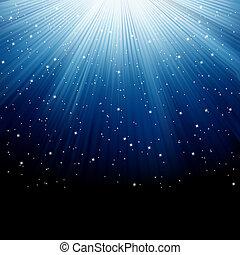 neve blu, eps, stelle, 8, luminoso, rays.