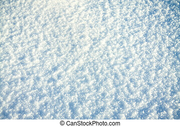 neve, brilhante, fundo, sol